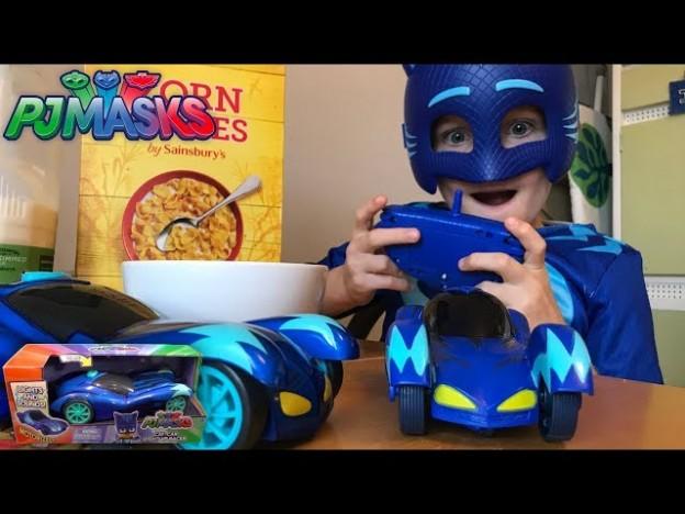 Pj Mask Sleeping Catboy New Light Up R C Cars Disney